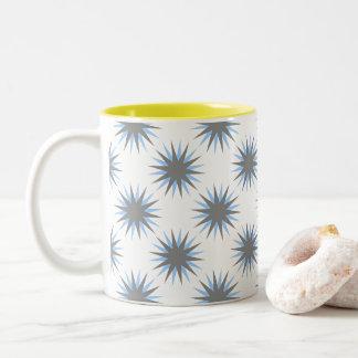 Retro Starburst Two-Tone Coffee Mug