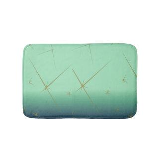 Retro Starlight Bathmat (green) Bath Mats