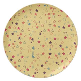 Retro stars dinner plates