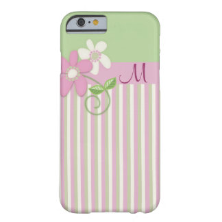 Retro stripes, flowers & Monogram iPhone 6 case Barely There iPhone 6 Case
