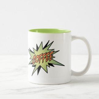 Retro Style Green, Black & Orange Coffee Mug