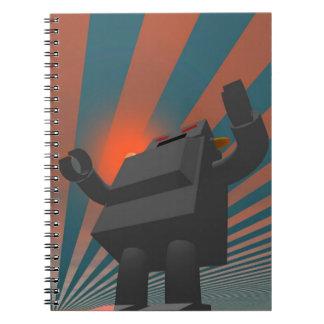Retro Style Robot 4 Notebook