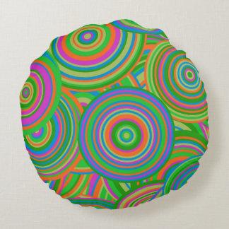 Retro Style Round Cushion