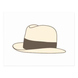 retro styled fedora hipster hat postcard