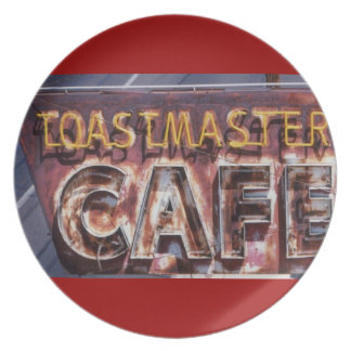 Retro Styled Neon Cafe Plate
