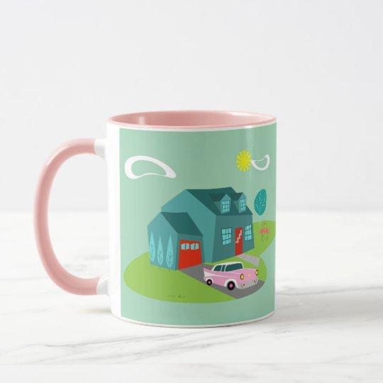 Retro Suburban House Mug