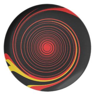 Retro Swirl Abstract Art Party Plates