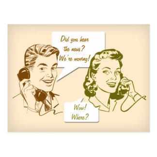 Retro Telephone Change of Address Postcard
