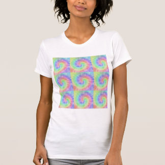 Retro Tie Dye Pastel Pattern Swirl Tees
