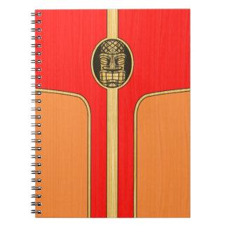 Retro Tiki Surfboard Notebook