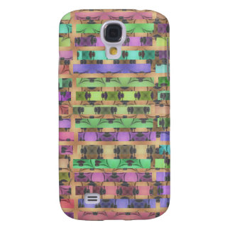 Retro Tiled Mosaic Pattern Stripes Galaxy S4 Case