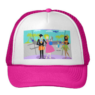 Retro Tropical Vacation Trucker Hat