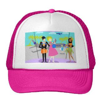 Retro Tropical Vacation Trucker Hat