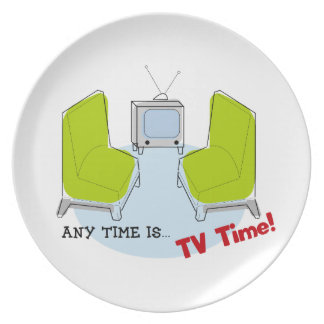 Retro TV Time! Design. Party Plates