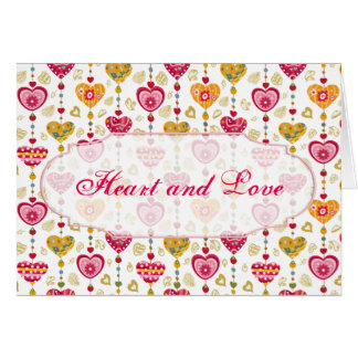 Retro Valentine Heart Greeting Card