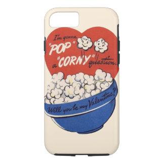 Retro Valentines Day, Popcorn Pop a Corny Question iPhone 8/7 Case