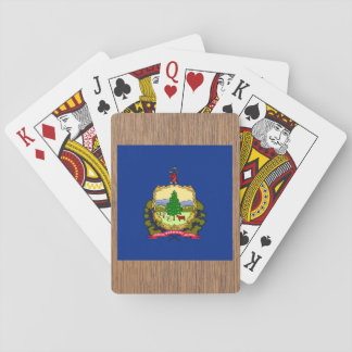 Retro Vermont Flag Playing Cards