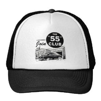 Retro Vintage Auto '55 Club Trucker Hats