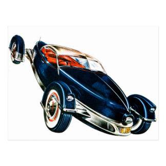 Retro Vintage Classic Auto Car Tucker Concept Postcard