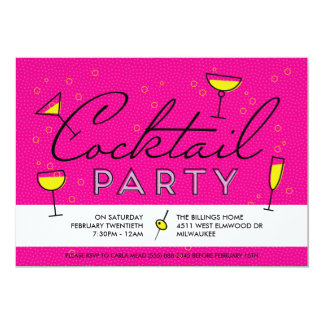 Retro Vintage Cocktail Party Invitation