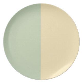 Retro Vintage Green Beige Design Plates
