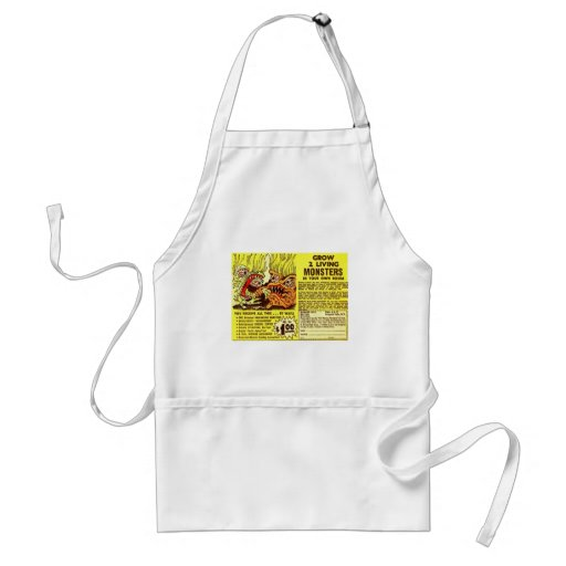 Retro Vintage Kitsch Monsters 'Grow 2 Monsters' Apron
