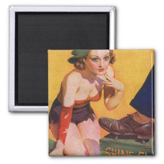 Retro Vintage Kitsch Pin Up 30s Shoe Shine 5¢ Fridge Magnet