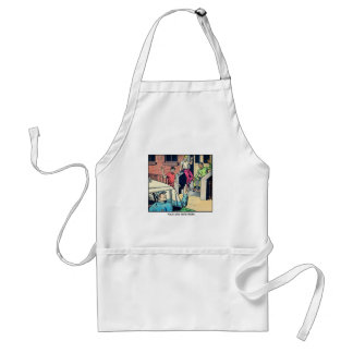 Retro Vintage Kitsch Police Are Your Friend Comic Aprons
