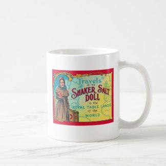 Retro Vintage Kitsch Shaker Salt Doll Advert Coffee Mug