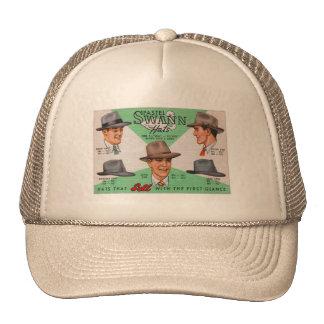 Retro Vintage Kitsch Swann Mens Hats Fedora