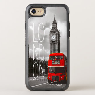 Retro Vintage London City Red Bus Big Ben Photo OtterBox Symmetry iPhone 8/7 Case