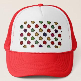 Retro Vintage Multicolored Flowers Design Trucker Hat