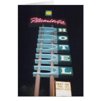 Retro Vintage Neon Motel Sign Card