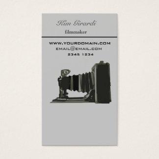 Retro Vintage Photography Filmaker Vertical Business Card