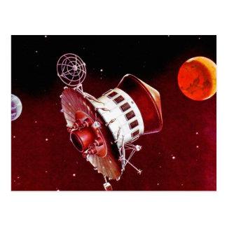 Retro Vintage Sci Fi 1967 Mars Lander Postcard