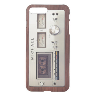 Retro Vintage Stereo Recorder Wooden Cabinet iPhone 8 Plus/7 Plus Case