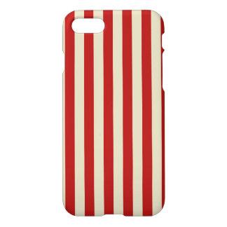Retro Vintage Vertical PopCorn Classic Stripes iPhone 8/7 Case