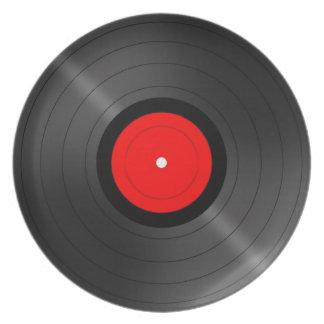 Retro Vinyl Party Plate