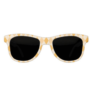 Retro yellow argyle rockabilly sunglasses