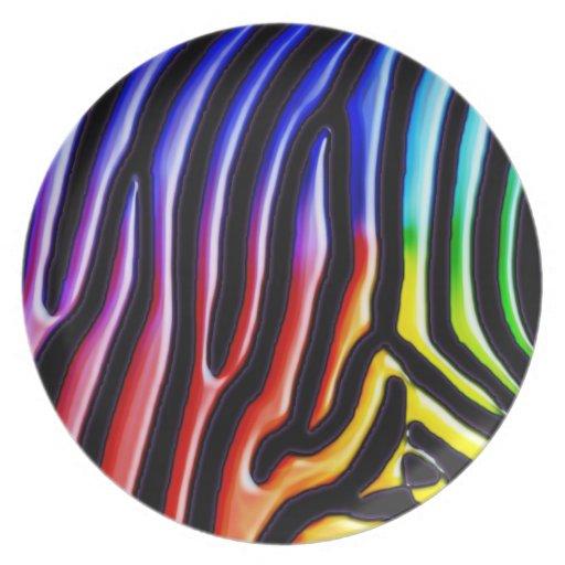 Retro Zebra 1 Plate