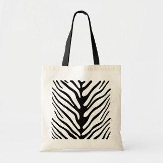 Retro Zebra Stripe Motif Tote Bag