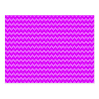 Retro Zigzags Purple Postcard