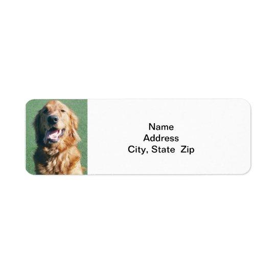 Return Address Label, Golden Retriever