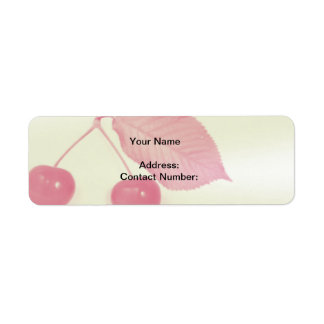 Return Address Label,  Red Cherries Return Address Label