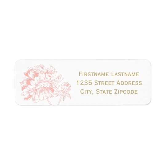 Return Address Labels | Coral Peony Design