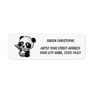 Return Address Labels. Panda.