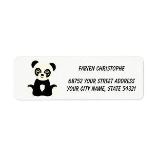 Return Address Labels. Panda.