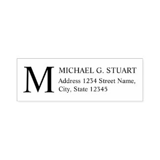 Return Address with Monogram Self-inking Stamp