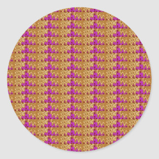 Return+gifts Party GIVEAWAY Signature Pattern SHOW Round Sticker