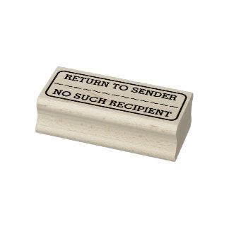 """RETURN TO SENDER"", ""NO SUCH RECIPIENT"", Rectangle Rubber Stamp"